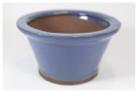 Bonsai Pot, Round, 11cm, Blue (Light), Glazed